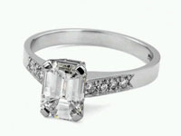 Emerald Cut with channel setting